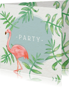 Uitnodigingen - Flamingo Party - KO