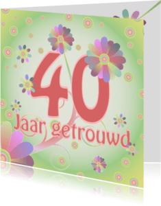 Jubileumkaarten - flowerpower-trouwen40
