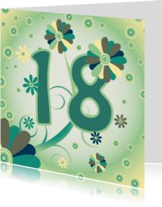 Verjaardagskaarten - flowerpower2 18 jaar