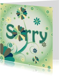 Sorry kaarten - flowerpower2 sorry