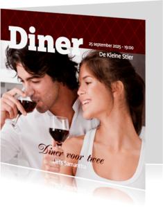 Uitnodigingen - Foto 4kant Diner - BK