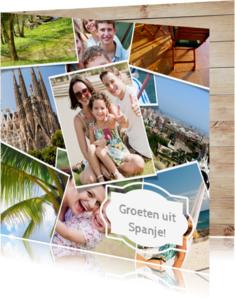 Vakantiekaarten - Foto collage kaart - vakantie