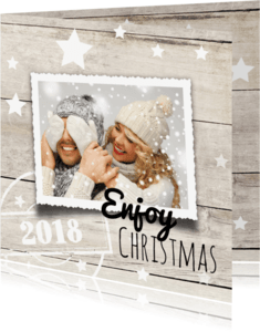 Kerstkaarten - Foto kerstkaart  - Enjoy 2018