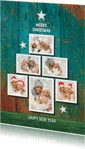 Kerstkaarten - Fotocollage trendy kerst  -SG