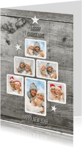 Kerstkaarten - Fotocollage trendy kerstboom  SG