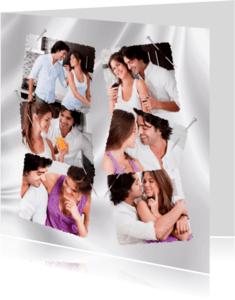 Bedankkaartjes - Fotocollagekaart met speld-isf