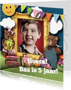 Verjaardagskaarten - Fotokaart-verjaardag-kind