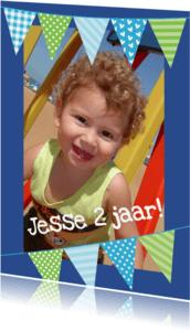 Kinderfeestjes - Fotokaart vlaggetjes jongen