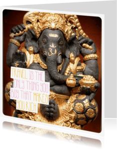 Spreukenkaarten - Ganesha India travel kaart