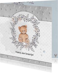 Geboortekaartjes - Geboorte beer, broer, 3e kindje