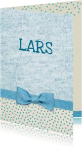 Geboortekaartjes - Geboorte blauw strikje jongen