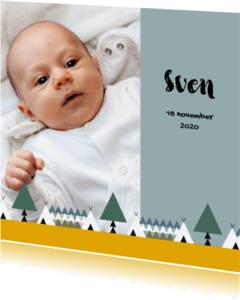 Geboortekaartjes - Geboorte jongen bos thema 1E