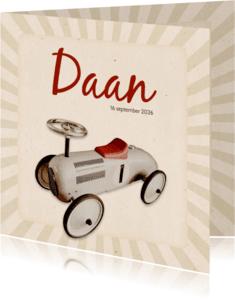 Geboortekaartjes - Geboorte loopwagen retro - BK