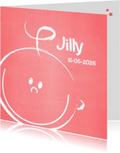 Geboortekaartjes - Geboorte meisje-blij gezichtje W