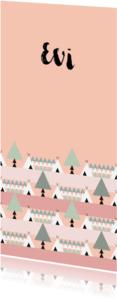 Geboortekaartjes - Geboorte meisje bos thema 1L