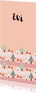 Geboortekaartjes - Geboorte meisje bos thema 2L