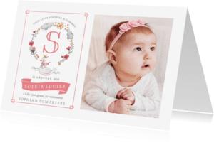 Geboortekaartjes - Geboorte Meisje Lief Zwaan