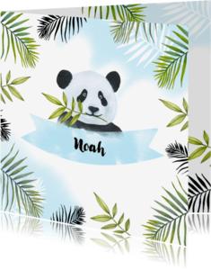 Geboortekaartjes - Geboorte pandabeertje aquarel