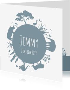 Geboortekaartjes - Geboorte silhouet jimmy - B