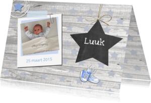 Geboortekaartjes - geboorte ster schoolbordje