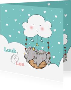 Geboortekaartjes - Geboorte tweeling Luuk en Lea IH