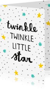 Geboortekaartjes - Geboorte Twinkle star