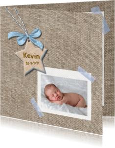 Geboortekaartjes - Geboortekaart ster voor jongen