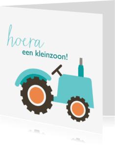 Felicitatiekaarten - Geboortekaart tractor