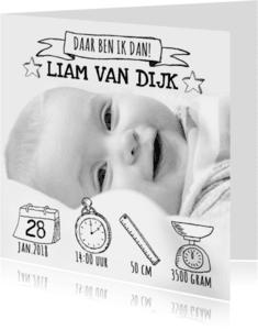 Geboortekaartjes - Geboortekaartje foto hip & stoer