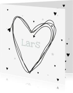 Geboortekaartjes - Geboortekaartje Hart Lars