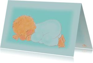 Geboortekaartjes - Geboortekaartje hip jongen PA