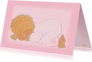 Geboortekaartjes - Geboortekaartje hip meisje PA