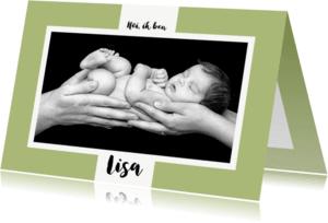 Geboortekaartjes - Geboortekaartje kies eigen tekst en achtergrondkleur - OT