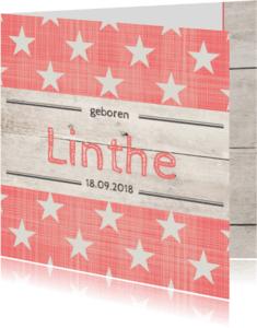 Geboortekaartjes - Geboortekaartje meisje Linthe