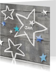 Geboortekaartjes - Geboortekaartje ster Jan