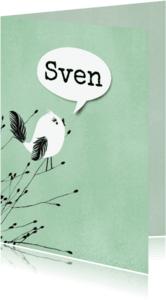Geboortekaartjes - Geboortekaartje trots vogeltje