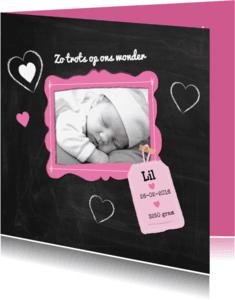 Geboortekaartjes - Geboren meisje eigen foto-ByF