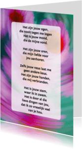 Gedichtenkaarten - Gedichtenkaart Bewegende bloemen