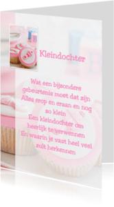 Felicitatiekaarten - Gedichtenkaart kleindochter