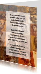 Gedichtenkaarten - Gedichtenkaart Vele gezichten