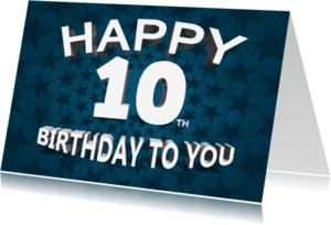 Verjaardagskaarten - gefeliciteerd 10 jaar