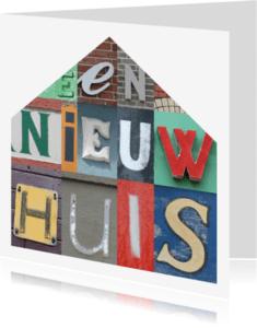 Felicitatiekaarten - Gefeliciteerd nieuw huis