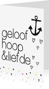 Liefde kaarten - Geloof hoop liefde