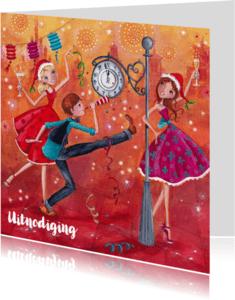 Uitnodigingen - Gelukkig Nieuwjaar Illustratie