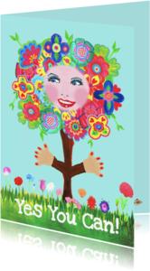 Geslaagd kaarten - Geslaagd kaart bloemenboom PA