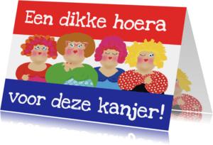 Geslaagd kaarten - Geslaagd kaart dikke dametjesvlag