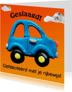 Geslaagd kaarten - Geslaagd, met grappige auto