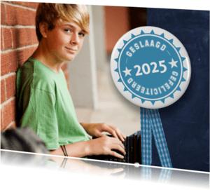 Geslaagd kaarten - Geslaagd Schoolbord 2017