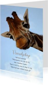 Vriendschap kaarten - Giraf met gedicht-isf