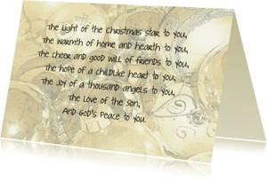 Kerstkaarten - God´s peace to you
